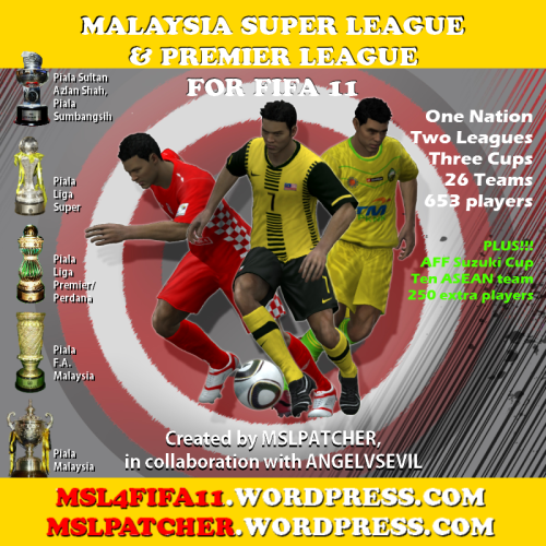 Download Malaysia Super League and Premier League for FIFA 11 PC